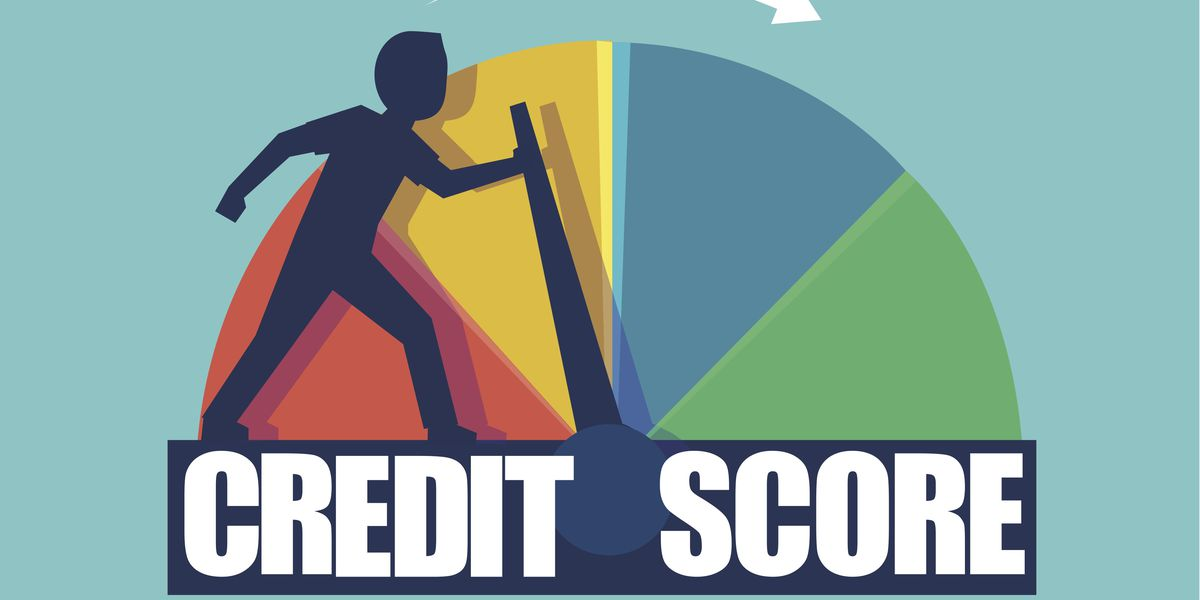 credit score vector graphic